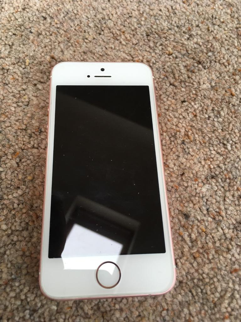 ROSE GOLD IPHONE SE 16GB UNLOCKED TO ALL NETWORKS