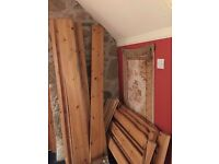 2 John Lewis pine single beds fair condition may need new slats