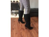 Knee length suede boots size 7