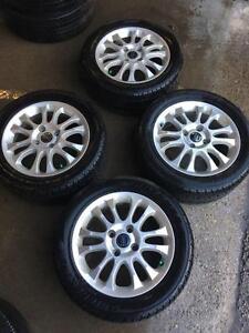 Like New  Volvo S40 (215-50-16 Bridgestone Potenza Go19 Brand New Tires + 4 Rims 5x108