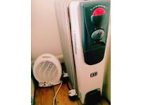 Portable oil heating and electric heating- almost new