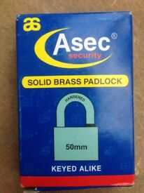 Asec security hardened 50mm padlock