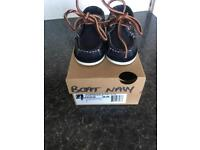 Baby timberland boat shoes size 4