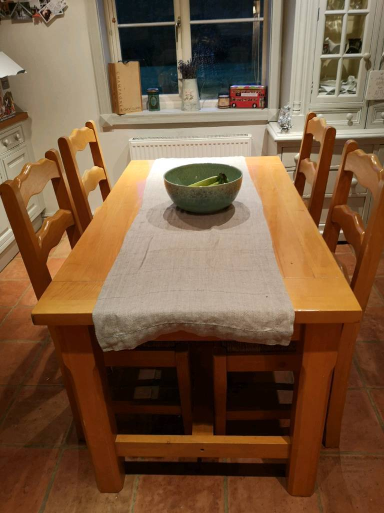 Solid Pine Kitchen Table With 4 Chairs In Derby Derbyshire Gumtree