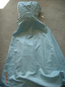 Light blue PROM dress with embellishment 50% REDUCED!