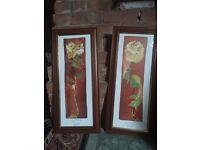 Set of 2 flower photo frames