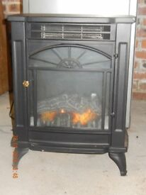 Biflame Large traditional electice Black Stove