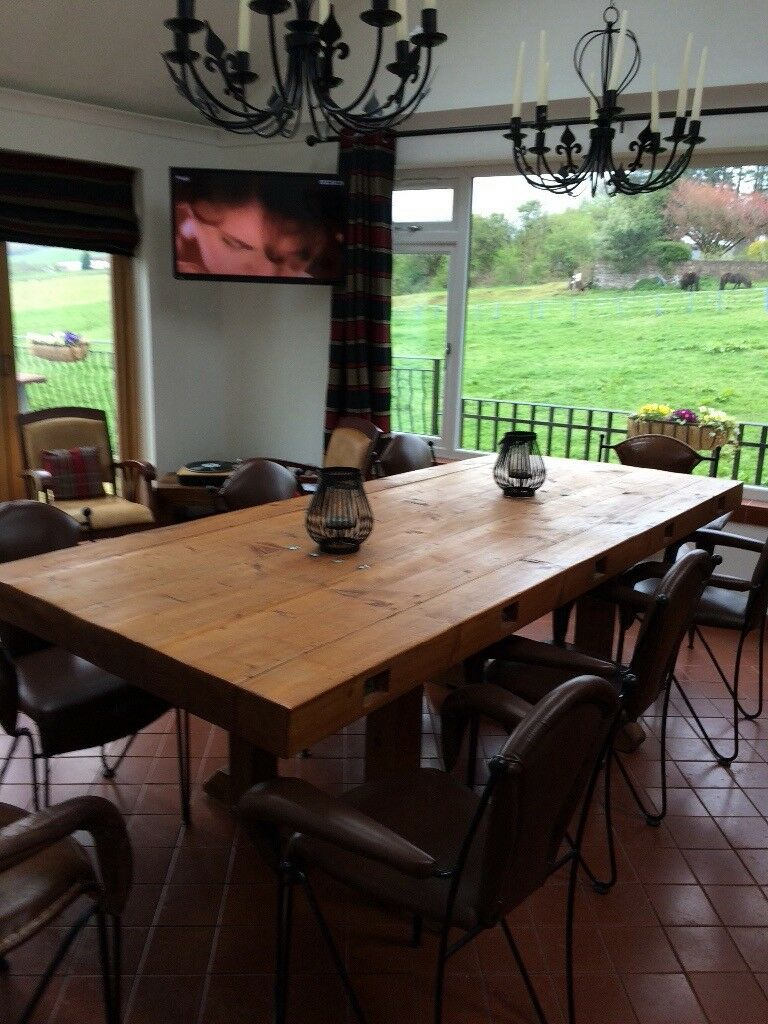 Rustic Dining Table 8 Chairs Optional Bespoke Extra Large