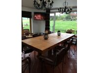 Rustic dining table ( 8 chairs optional) bespoke extra large dining table