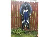Blue alpinestars 1 piece suit