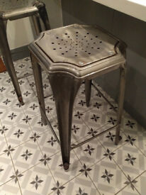 Pair of metal stools