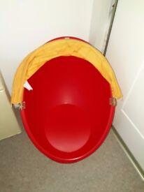 Children's Swivel Chair Red and Orange