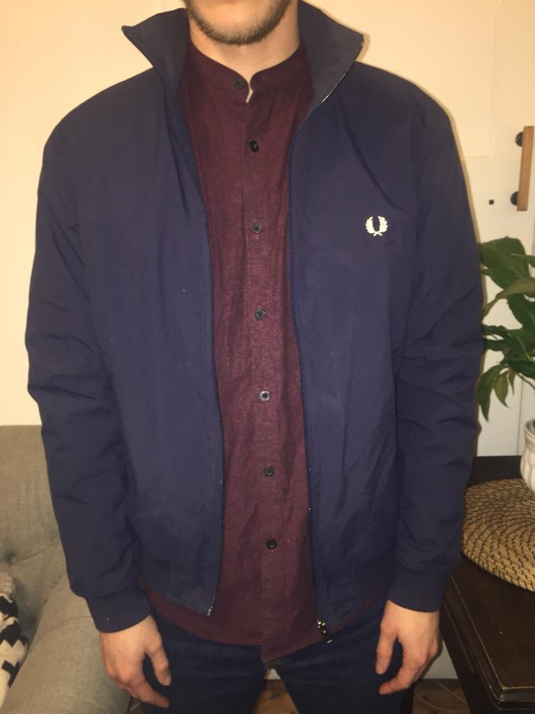 Fred Perry navy Harrington style jacket