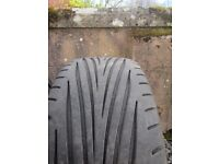 """17"""" Alloy wheels with Dunlop Maxxis tyres"""