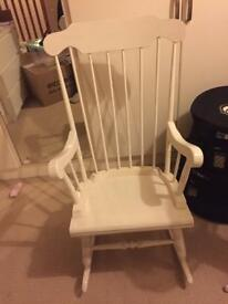 White painted rocking chair, nursery