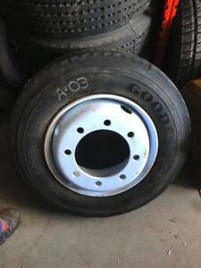 NEW - Goodyear G114 215/75R17.5 Radial Trailer Tires Mounted On Steel Rims-12 available