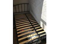 Double Black Metal Bed Frame