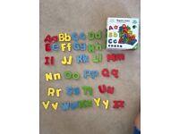 Vortigern 52 Wooden Magnetic Letters Educational Toy Lower Case Upper Case