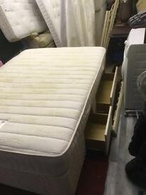 Double bed with draws and mattress