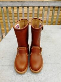 Biker boots handmade size 4