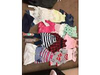 Bundle of baby girl clothes 3-6-6-9 months old and shoes