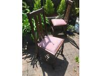 Set of four solid oak chairs