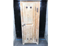 Beautiful 19th Century Stripped Pine Food Store / Pantry - Antique Vintage