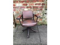 Vintage Tan-sad industrial chair