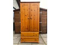 Pine Double Wardrobe - Can Deliver