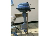 Yamaha 4 hp 4 Stroke, long shaft outboard and external fuel tank for sale