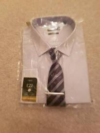 Men's Next shirt and tie BNWT