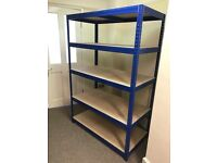 Big Dug Industrial Shelving with 5 Shelves 178cm x 120xm x 60cm. Holds up to 265kg.