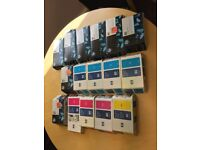 HP 80 Designjet series 1000 - ink cartridge (x 10) , printhead and cleaner x 6