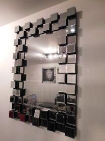 Large 3D Block Wall Mirror rrp £449