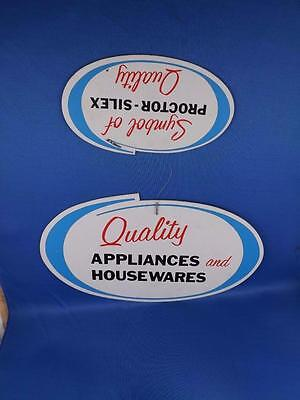 Proctor Silex Cardboard Signs Appliances And Housewares Store Display