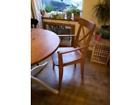 Four Pine Dining Room Chairs