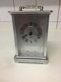 London Clock Company Silver Carriage Clock 03001