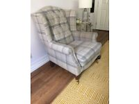 Laura Ashley, chair and matching footstool/storage