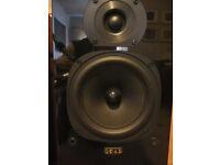 Quad 21L Floorstanding Loudspeakers for sale in Piano Black.