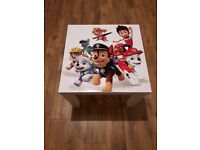 Childrens *Brand New Re-Purposed Tables (Paw Patrol, Angry Birds, Moana, Celtic, Rangers)
