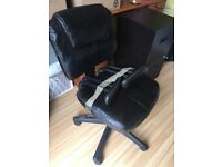 Black office chair in leatherette
