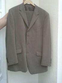 Mens fawn/mink suit