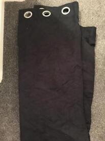 Black suede blackout curtains