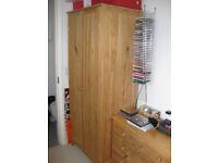 Bedroom furniture set - Pine - Wardrobe, chest of drawers, bedside cabinet