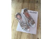 Silver and diamonte party heels size 39
