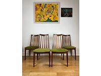 Mid Century G Plan Victor Wilkins Teak Four Dining Chairs FREE LOCAL DELIVERY