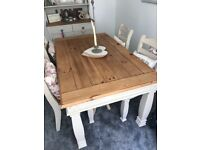 Hand painted table and 4 chairs