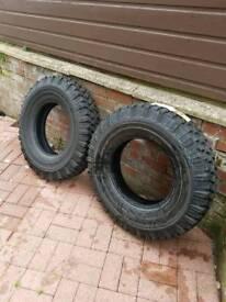 2 x brand new Michelin 4x4 tyres