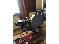 Gaming chair and steering wheel PS4 & PS3