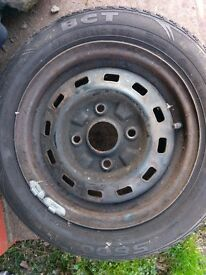 two chevrolet matiz wheels with good Tyres for free